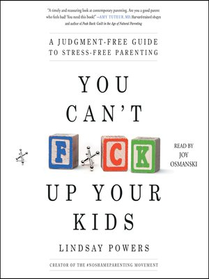 cover image of You Can't F*ck Up Your Kids