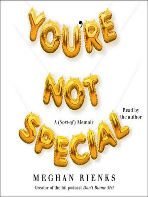 cover image of You're Not Special
