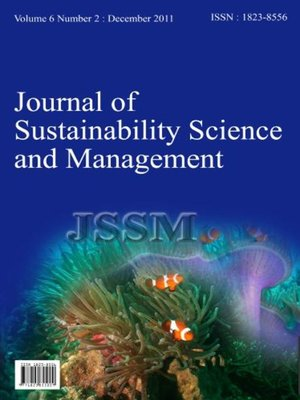 cover image of Journal of Sustainability Science and Management (JSSM), Volume 6, Number 2