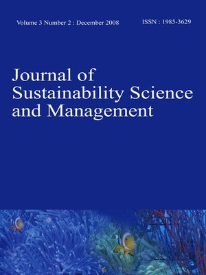 cover image of Journal of Sustainability Science and Management (JSSM) Vol.3, No.2