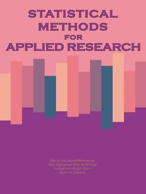 cover image of Statistical Methods for Applied Research