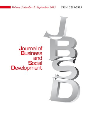 cover image of Journal of Business and Social Development (JBSD) Vol.3 No.2