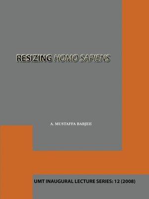 cover image of Resizing Homo Sapiens