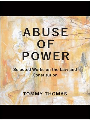 cover image of Abuse of Power