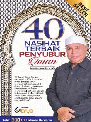 cover image of 40 Nasihat Terbaik Penyubur Iman