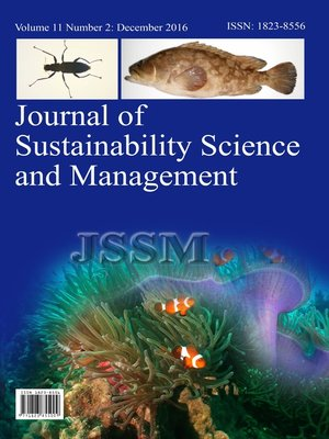 cover image of Journal of Sustainability Science and Management (JSSM), Volume 11, Number 2