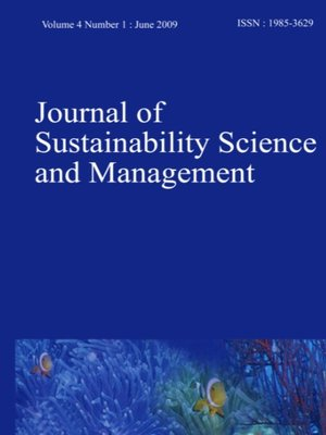 cover image of Journal of Sustainability Science and Management, Volume 2, Number 2