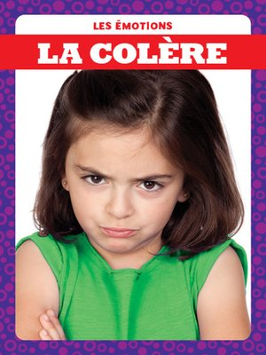 cover image of La colère (Angry)