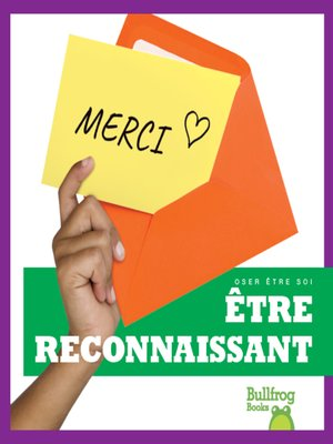 cover image of Être reconnaissant (Being Grateful)