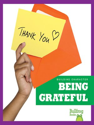 cover image of Being Grateful