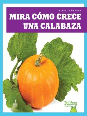 cover image of Mira cómo crece una calabaza (Watch a Pumpkin Grow)