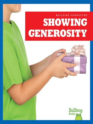 cover image of Showing Generosity