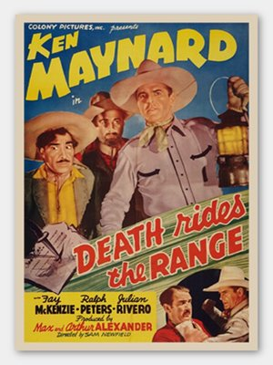 cover image of Death Rides the Range