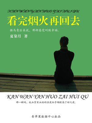 cover image of 看完烟火再回去