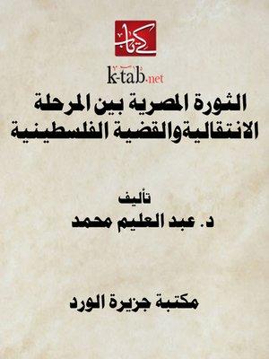 cover image of الثورة المصرية بين المرحلة الانتقالية والقضية الفلسطينية