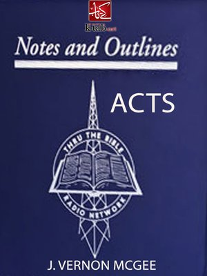 cover image of Notes & Outlines ACTS