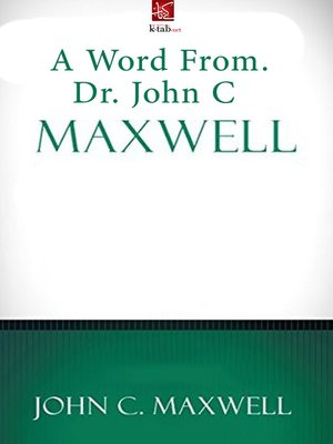 cover image of A Word From Dr. John C. Maxwell