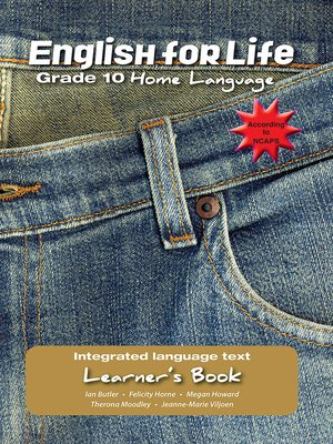 cover image of English for Life Learner's Book Grade 10 Home Language
