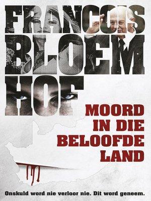 cover image of Moord in die beloofde land