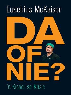 cover image of DA of nie?