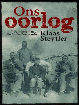 cover image of Ons oorlog