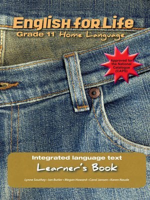 cover image of English for Life Learner's Book Grade 11 Home Language