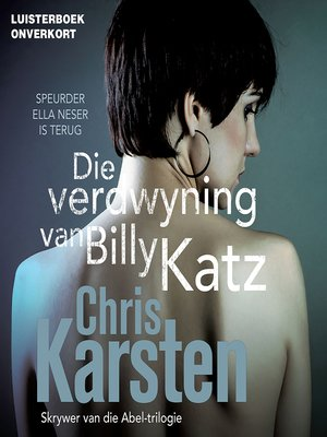cover image of Die verdwyning van Billy Katz