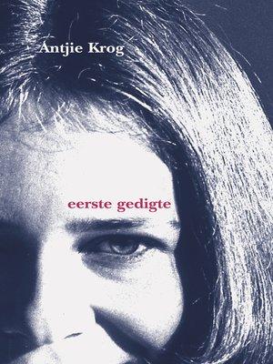 cover image of Eerste gedigte