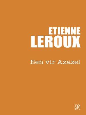cover image of Een vir Azazel