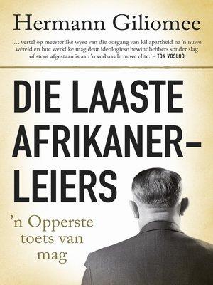cover image of Die laaste Afrikanerleiers