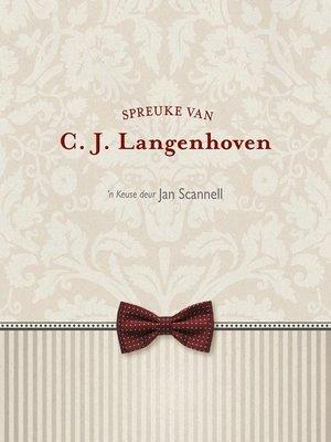 cover image of Spreuke van C.J. Langenhoven