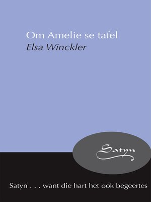cover image of Om Amelie se tafel