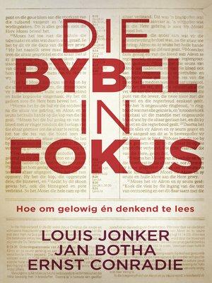 cover image of Die Bybel in fokus