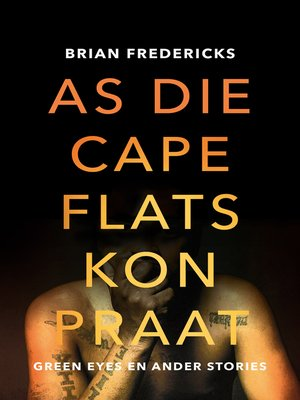 cover image of As die Cape Flats kon praat