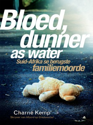 cover image of Bloed, dunner as water