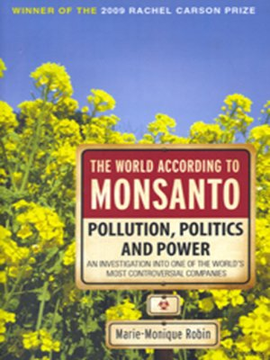 cover image of The World According to Monsanto