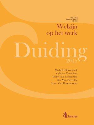 cover image of Duiding Welzijn op het werk--Publieke en private sector