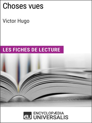 cover image of Choses vues de Victor Hugo