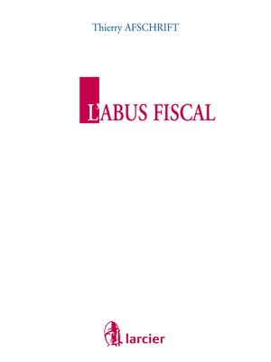 cover image of L'abus fiscal