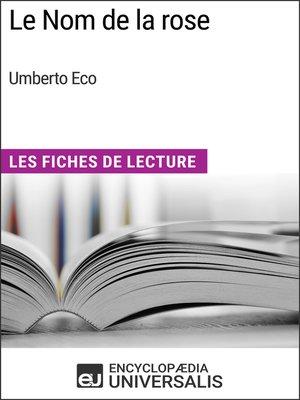 cover image of Le Nom de la rose d'Umberto Eco