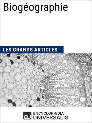 cover image of Biogéographie