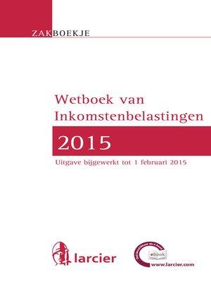 cover image of Zakboekje inkomstenbelastingen 2015