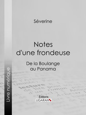 cover image of Notes d'une frondeuse