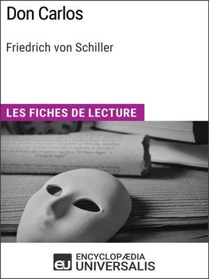 cover image of Don Carlos de Friedrich von Schiller