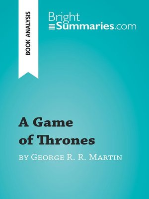 cover image of A Game of Thrones by George R. R. Martin (Book Analysis)
