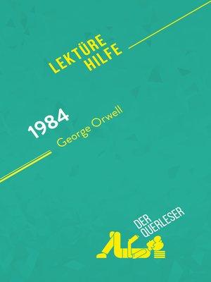 cover image of 1984 von George Orwell (Lektürehilfe)