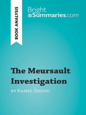 cover image of Book Analysis: The Meursault Investigation by Kamel Daoud
