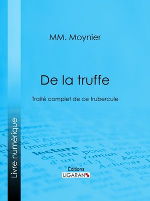 cover image of De la Truffe