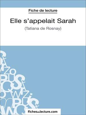 cover image of Elle s'appelait Sarah