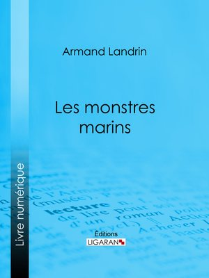 cover image of Les Monstres marins